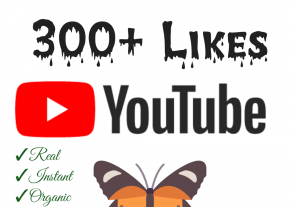 Add 300+ YouTube Likes with high quality promotion, real, non dropped and work instantly.