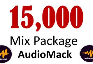 Mix Package 15,000 Audiomack Plays Followers Like reupes