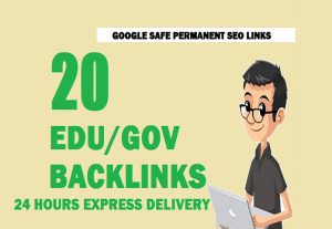 build 20 edu/gov High authority backlinks, white hat seo link building