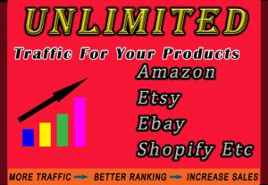 Promote any online shop Etsy, Amazon, Ebay, Shopify or product