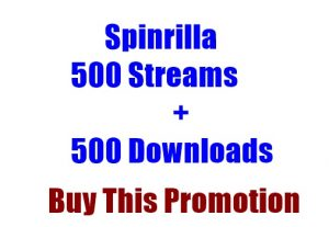 Spinrilla 500 Streams + 500 Downloads