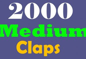 2000+ Medium claps to your post