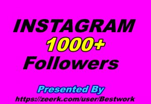I will give you 1000 Instagram Followers Non-drop Guaranteed Instant Start