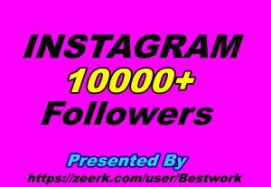 I will give you 10000 Instagram Followers Non-drop Guaranteed Instant start
