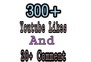 300+ YouTube Likes with 20+ YouTube Comments Lifetime Guaranteed