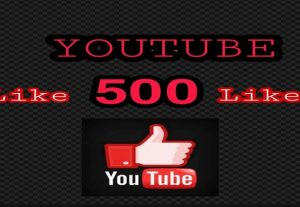 Add 500 + Real YouTube Likes for Lifetime Guaranteed