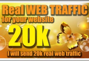 I Will Send 20000 Website Traffic With Low Bounce Rate