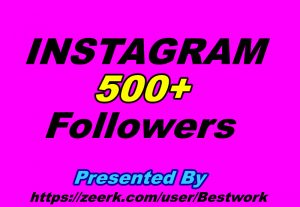 I will give you 500 Instagram Followers Non-drop Guaranteed Instant start
