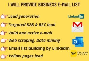 I will provide 50 targeted B2B LinkedIn leads to generate  and Web Scraping
