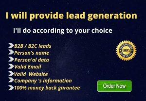 I will provide lead generation