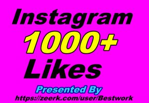I will give you 1000 Instagram Likes Non-drop Guaranteed Instant Start