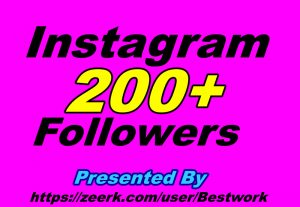 I will Add 200 Instagram Followers Non-drop Guaranteed Instant start