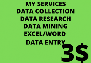 I will do all kind of data entry