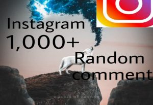 I will get you 500+ Instagram Random comments high quality and fast delivery