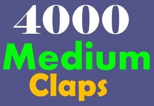 4000+ Medium claps to your post