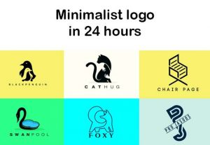 I will design a minimalist logo in 24 hours