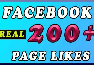 200 + Facebook PAGE LIKES promotion