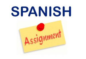 I will help you with your Spanish assignment