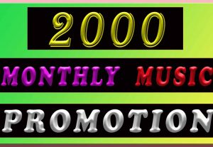 2000 + monthly listeners Promotion for your artist/ music