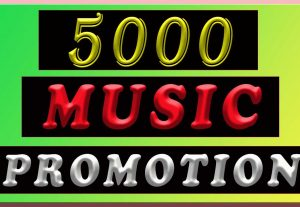 5000 All natural Real music promotion Album Artist Playlist