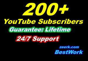 I will Add 200 Youtube Subscribers for your YouTube channel