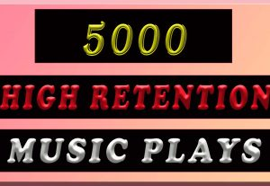 5000 High Retention music promotion with 50 likes for $4