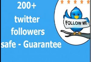 200 twitter followers – real – almost non drop – 100% Guarantee-instant start