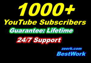 I will give you 1000 Youtube Subscribers for your YouTube Channel