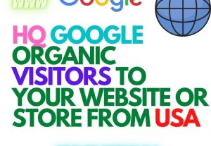 Get thousand of GOOGLE organic visitors HQ TARGETED AND INTERESTED from USA to your store or website