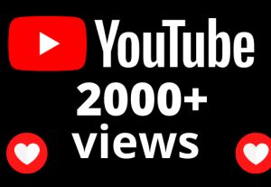 I will add 2000+ views and 40 hours watch time