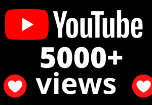 I will add 5000+ views and 50 hours watch time