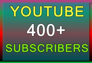I Will Promote 400+ YouTube Subscribe in your Channel and 400 views for free, Non-Drop, Real Active Users Guaranteed