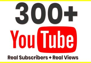 I Will promote 300+ YouTube Subscribe in your Channel and 400 views for free, Non-Drop, Real Active Users Guaranteed