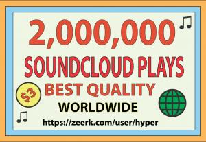 2,000,000 SOUNDCLOUD GLOBAL PLAYS