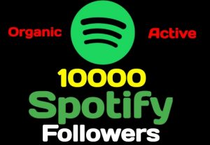 10000+ Spotify artist or playlist followers, high quality, active user, non-drop, and lifetime guaranteed
