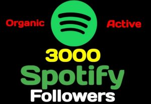 Get 3000+ Spotify artist or playlist followers, high quality, active user, non-drop, and lifetime guaranteed