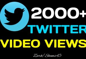 Get 2000+ Twitter Video Views, High quality, Active user, Non-Drop, User guaranteed