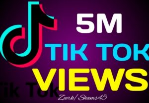 5M+ TikTok Organic Views, Real Active User, High Quality, Non-drop, Lifetime User Guaranteed