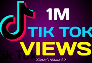 I Will give you 1M+ TikTok Organic Views, Real Active User, High Quality, Non-drop, Lifetime User Guaranteed