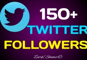 Get 150+ Organic Twitter followers, High quality, Non-drop, real active User guaranteed