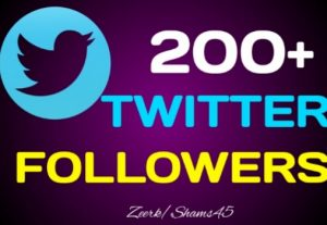 Add 200+ Organic Twitter followers, High quality, Non-drop, real active User guaranteed