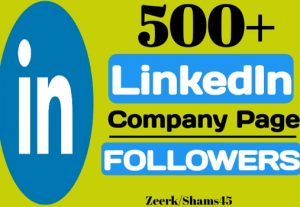 Add 500+ Linkedin Company Page Followers instant, organic and real, non-drop, active user guaranteed