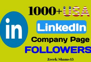Add 1000+ Linkedin Company Page USA Followers instant, organic and real, non-drop, active user guaranteed