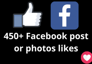 I will add 450+ Facebook post likes