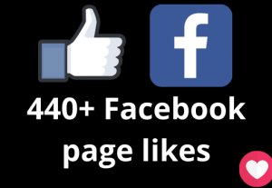 I will add 440+ Facebook page likes