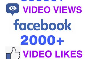 I will add 30000+ Video Views & 2000+ Video Likes on FACEBOOK ! High Quality and Non Drop !