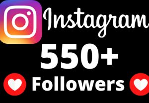 I will add 550+ Instagram followers.
