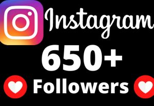 I will add 650+ Instagram followers.