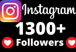 I will add 1300+ Instagram followers.