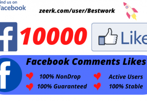 I will Add 10000 Facebook Comments Likes NonDrop Lifetime Guaranteed